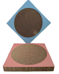 Scratching Mat for Cats   Corrugated Cardboard   Purple