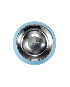 SUPER round dog food bowl with removable bowl stainless steel (medium)