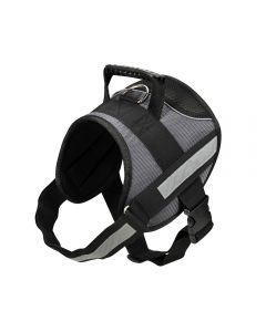 Durable dog harness with reflective strip L