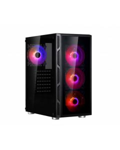 Spire Vision 7025 RGB |Mid tower PC case with RGB lighting | Tempered glass panels