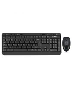 Adesso Desktop Antimicrobial Wireless Desktop Keyboard and Mouse (QWERTY)